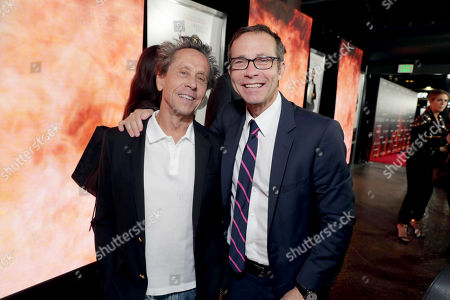 """Producer Brian Grazer and CAA's Richard Lovett seen at Columbia Pictures Presents in Association with Imagine Entertainment the Los Angeles Special Red Carpet Screening of """"Inferno"""" at The DGA, in Los Angeles"""