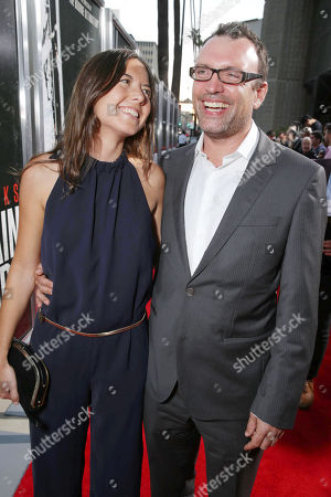 Victoria de la Vega, left, and cinematographer, Henry Jackman arrive at Columbia Pictures screening of 'Captain Phillips', on in Beverly Hills, Calif