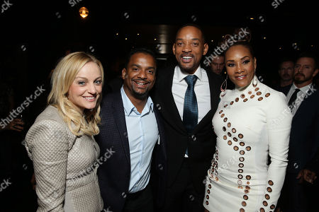 Angela Unkrich, Alfonso Ribeiro, Will Smith and Vivica A. Fox seen at Columbia Pictures Special screening of 'Concussion' at Regency Village Theatre, in Los Angeles, CA