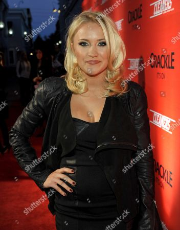 """Stock Picture of Emily Osment attends the screening of """"Cleaners"""" at Sony Pictures Studio's Cary Grant Theater, in Culver City, Calif"""
