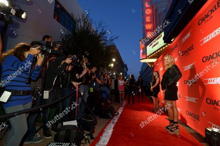 """Emily Osment attends the screening of """"Cleaners"""" at Sony Pictures Studio's Cary Grant Theater, in Culver City, Calif"""