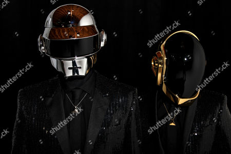 Thomas Bangalter, left, and Guy-Manuel de Homem-Christo, from the group Daft Punk pose for a portrait on in Los Angeles