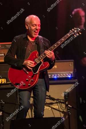 "Guitarist Peter Frampton performs on stage during the David Lynch Foundation Honors Ringo Star ""A Lifetime of Peace & Love"" event held at the El Rey Theatre on in Los Angeles"