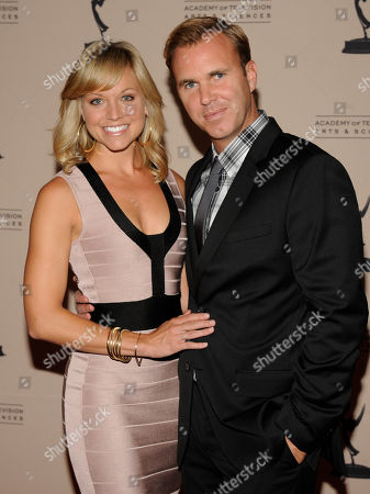 """LOS ANGELES CA - JUNE 14: Actor Tiffany Coyne (L) and husband Chris Coyne arrive at the """"Daytime Emmy Nominee Reception Presented by the Academy of Television Arts & Sciences' Daytime Programming Peer Group"""" in the Garden Room & Terrace at the SLS Hotel at Beverly Hills on in Los Angeles, California. The 39th Daytime Entertainment Emmy Awards, presented by the National Academy, will take place on June 23, 2012 at The Beverly Hills Hotel"""