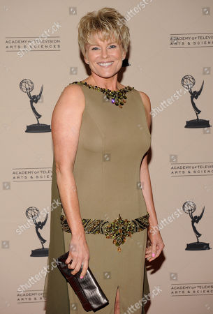 """LOS ANGELES CA - JUNE 14: Actor Judi Evans-Luciano arrives at the """"Daytime Emmy Nominee Reception Presented by the Academy of Television Arts & Sciences' Daytime Programming Peer Group"""" in the Garden Room & Terrace at the SLS Hotel at Beverly Hills on in Los Angeles, California. The 39th Daytime Entertainment Emmy Awards, presented by the National Academy, will take place on June 23, 2012 at The Beverly Hills Hotel"""