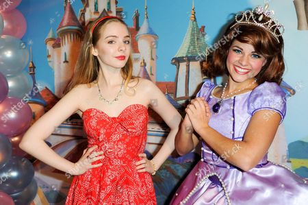 Darcy Rose Byrnes poses with Disney Princess Model at the Disney Junior Live On Tour Pirate & Princess Adventure at the Dolby Theatre on in Los Angeles