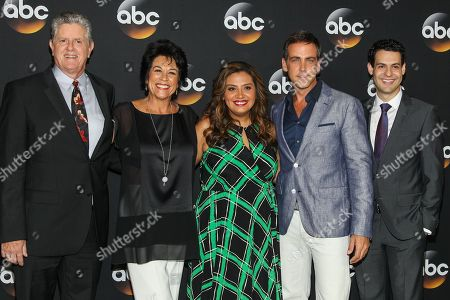 Sam McMurray, from left, Terri Hoyos, Cristela Alonzo, Carlos Ponce and Andrew Leeds attend the Disney/ABC Television Group 2014 Summer TCA held at the Beverly Hilton Hotel, in Beverly Hills, Calif