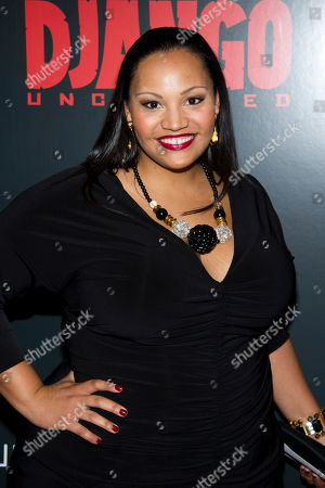 """Dana Gourrier attends the premiere of """"Django Unchained"""" hosted by The Cinema Society and The Weinstein Company on in New York"""