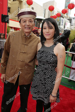 James Hong and April Hong seen at DreamWorks Animation and Twentieth Century Fox World Premiere of 'Kung Fu Panda 3' at TCL Chinese Theater, in Hollywood, CA