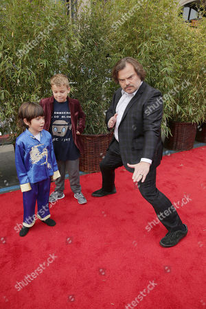 Stock Picture of Thomas David Black, Samuel Jason Black and Jack Black seen at DreamWorks Animation and Twentieth Century Fox World Premiere of 'Kung Fu Panda 3' at TCL Chinese Theater, in Hollywood, CA
