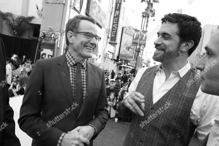 Writer/Producer Glenn Berger, Bryan Cranston, Director Alessandro Carloni and Writer/Producer Jonathan Aibel seen at DreamWorks Animation and Twentieth Century Fox World Premiere of 'Kung Fu Panda 3' at TCL Chinese Theater, in Hollywood, CA