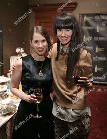 IMAGE DISTRIBUTED FOR ECCO DOMANI FASHION FOUNDATION - Fashion designer Jordana Warmflash, left, and Lindsay Degen, right, attend the Ecco Domani Fashion Foundation 2014 Winners Happy Hour, on in New York