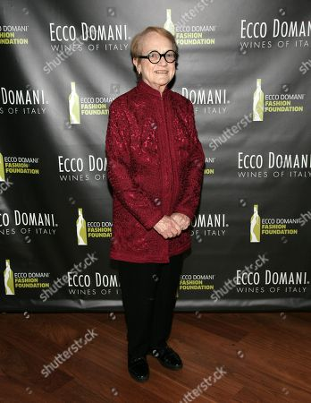 Stock Photo of Editor of the International Fashion Syndicate Marylou Luther attends the Ecco Domani Fashion Foundation 2014 Winners Happy Hour, on in New York