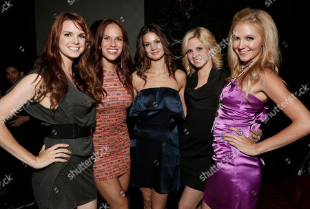 """Catherine Annette, Stacy Stas, Tiffany Brouwer, Nikki Griffin and Madison Dylan attend the Entertainment One """"Haven"""" Party at Comic Con 2012 on in San Diego, CA"""
