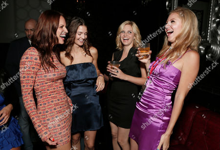 """Stacy Stas, Tiffany Brouwer, Nikki Griffin and Madison Dylan attend the Entertainment One """"Haven"""" Party at Comic Con 2012 on in San Diego, CA"""