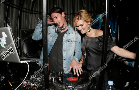 """Eric Balfour DJ's with Emily Rose at the Entertainment One """"Haven"""" Party at Comic Con 2012 on in San Diego, CA"""