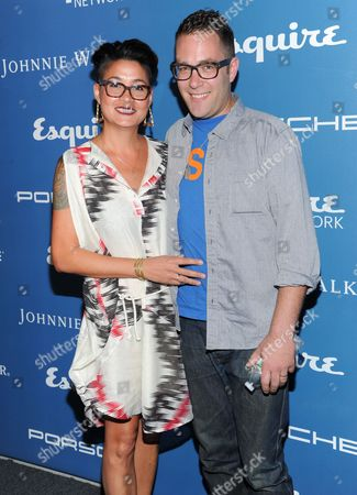 Chef Ilan Hall, right, and Ayame Kawaguchi attend the Esquire 80th Anniversary and Network Launch Event on in New York