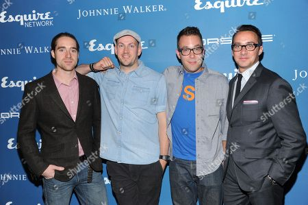 TV personalities Martin Dickie, left, and James Watt of BrewDog, chef Ilan Hall, and Esquire Network General Manager Adam Stotsky, right, attend the Esquire 80th Anniversary and Network Launch Event on in New York