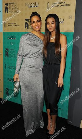 Stock Picture of From left, Daphne Wayans and Nala Wayans arrive at the 5th Annual ESSENCE Black Women in Music reception, on at 1 OAK in Los Angeles, Calif