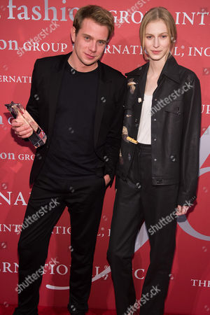 Jonathan Anderson and Julia Nobis attend the Fashion Group International's Night of Stars Gala at Cipriani Wall Street, in New York