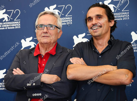 Director Marco Bellocchio, left, and actor Pier Giorgio Bellocchio pose during the photo call for the film Sangue Del Mio Sangue (Blood of my blood) at the 72nd edition of the Venice Film Festival in Venice, Italy, . The 72nd edition of the festival runs until Sept. 12