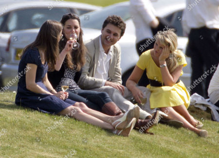 Pippa and Kate Middleton with Thomas Van Straubenzee and Melissa 'Missy' Percy