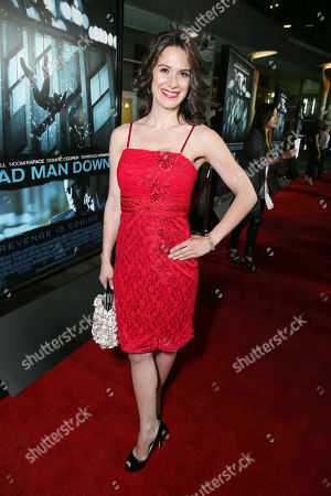 """Stock Photo of Beata Dalton at FilmDistrict's World Premiere of """"Dead Man Down"""" held at the ArcLight Hollywood, on in Los Angeles"""