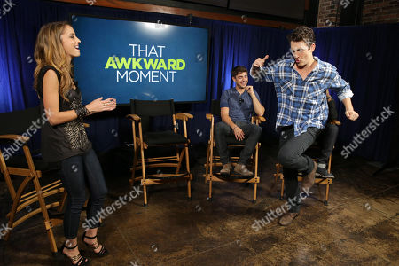 EXCLUSIVE CONTENT - PREMIUM RATES APPLY Moderator Taryn Southern and Miles Teller seen at FilmDistrict's 'That Awkward Moment' Red Band Trailer Launch Celebration and Q&A, on Tuesday, Oct., 15, 2013 in Culver City, Calif