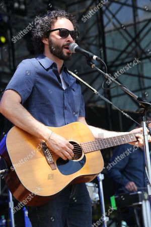 Israel Nebeker of Blind Pilot performs as part of Final Four Big Dance Concerts at Centennial Olympic Park, in Atlanta