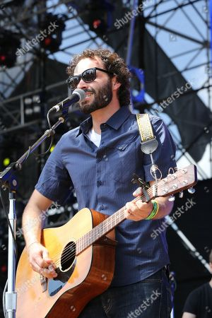 Stock Photo of Israel Nebeker of Blind Pilot performs as part of Final Four Big Dance Concerts at Centennial Olympic Park, in Atlanta