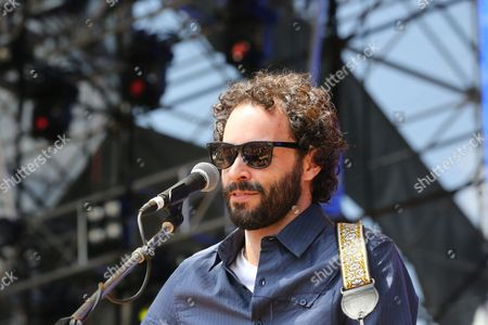 Stock Image of Israel Nebeker of Blind Pilot performs as part of Final Four Big Dance Concerts at Centennial Olympic Park, in Atlanta