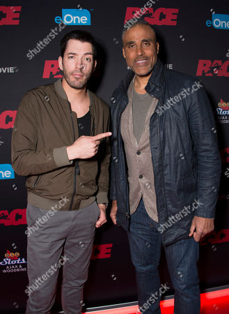 """Television personality Drew Scott and actor Rick Fox seen at the Focus Features premiere of """"Race"""", in Toronto"""