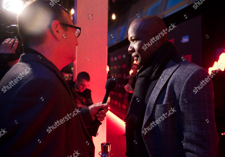 """Stock Photo of Olympian Donovan Bailey seen at the Focus Features premiere of """"Race"""", in Toronto"""