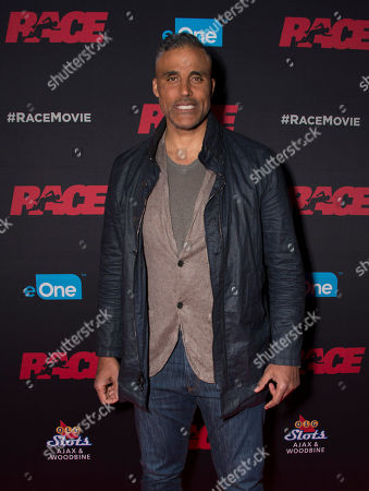 """Actor Rick Fox seen at the Focus Features premiere of """"Race"""", in Toronto"""