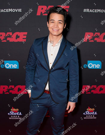 "Actor Shannon Kook seen at the Focus Features premiere of ""Race"", in Toronto"