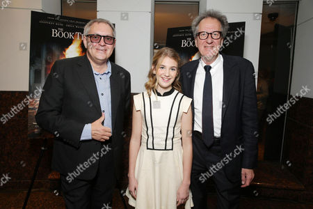 Director Brian Percival, Sophie Nelisse and Geoffrey Rush seen at Fox 2000 Pictures special screening of 'The Book Thief' held at the Simon Wisenthal Center's Museum of Tolerance, on Saturday, Nov, 2, 2013 in Los Angeles