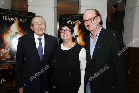 Stock Photo of Dean and Founder of Simon Wisenthal Center Rabbi Marvin Hier, Producer Karen Rosenfelt and Producer Ken Blancato seen at Fox 2000 Pictures special screening of 'The Book Thief' held at the Simon Wisenthal Center's Museum of Tolerance, on Saturday, Nov, 2, 2013 in Los Angeles