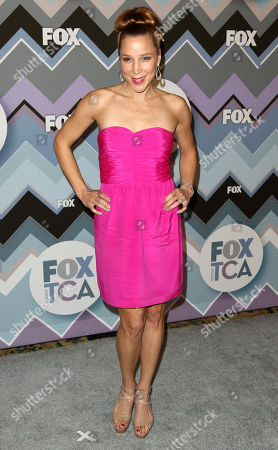Becky Baeling arrives at the Winter TCA Fox All-Star Party at the Langham Huntington Hotel, in Pasadena, Calif