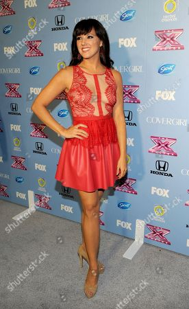 """Contestant Rachel Potter arrives at FOX's """"The X Factor"""" Season 3 Finalists Party,, at the SLS Hotel in Beverly Hills, Calif"""