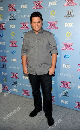 "Stock Photo of Contestant Tim Olstad arrives at FOX's ""The X Factor"" Season 3 Finalists Party,, at the SLS Hotel in Beverly Hills, Calif"