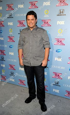 "Contestant Tim Olstad arrives at FOX's ""The X Factor"" Season 3 Finalists Party,, at the SLS Hotel in Beverly Hills, Calif"