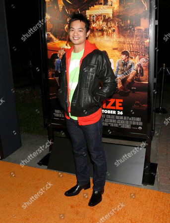 """Osric Chau attends the """"Fun Size"""" Los Angeles Premiere at Paramount Studios on in Los Angeles, California"""