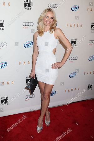 """Actress Susan Misner attends the FX Networks Upfront premiere screening of """"Fargo"""" at the SVA Theater on in New York"""