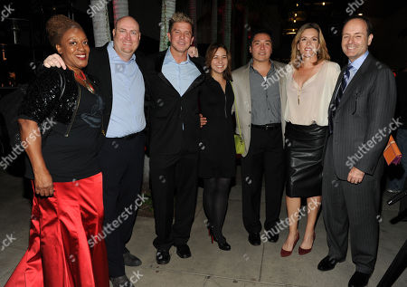 From left, CCH Pounder, Shawn Ryan, Kenny Johnson, Cathy Cahlin Ryan, Benito Martinez, Catherine Dent, FX Networks CEO John Landgraf attend the 2013 Benefit Gala Honoring FX Networks with the Paley Prize for Innovation and Excellence on in Los Angeles