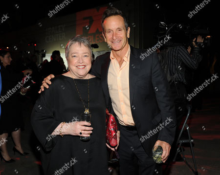 Actress Kathy Bates, left, and Executive Producer Dante Di Loreto attend the 2013 Benefit Gala Honoring FX Networks with the Paley Prize for Innovation and Excellence on in Los Angeles