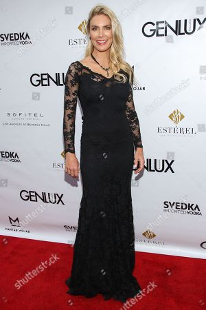 Stock Picture of Actress Kelly Greyson arrives at the Genlux Magazine's new issue release party at the Sofitel on in Los Angeles