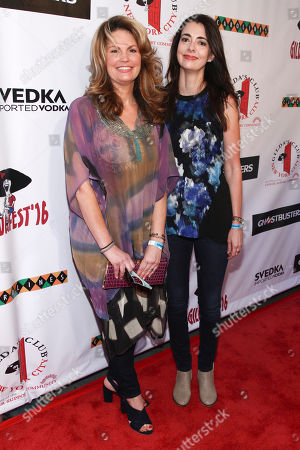 Lynne Koplitz, left, and Carmen Lynch, right, attend Gildafest '16 hosted by Gildaâ?™s Club NYC at Carolines on Broadway, in New York