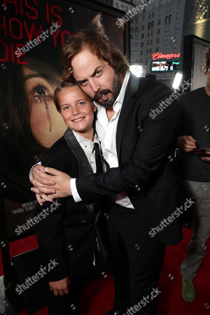 """Stock Image of Tate Berney and Angus Sampson seen at Gramercy Pictures presents the world premiere of """"Insidious: Chapter 3"""" held at TCL Chinese Theatre, in Hollywood"""