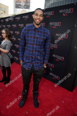 """Stock Photo of Xavier Henry seen at Gramercy Pictures presents the world premiere of """"Insidious: Chapter 3"""" held at TCL Chinese Theatre, in Hollywood"""