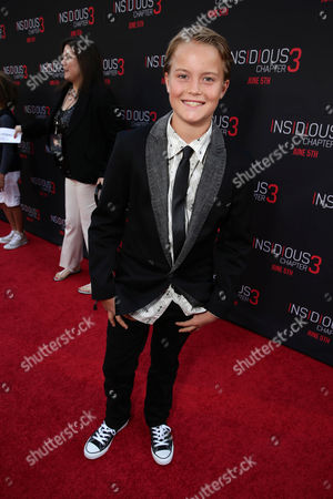 """Tate Berney seen at Gramercy Pictures presents the world premiere of """"Insidious: Chapter 3"""" held at TCL Chinese Theatre, in Hollywood"""